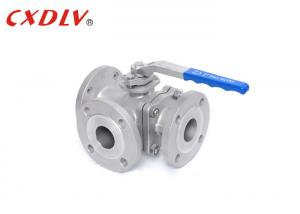 China High Performance 3 Way Ball Valve Stainless Steel Full Port PN40 T / L Port on sale