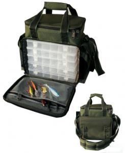 China 600D oxford PVC coated Fishing Tackle Bag with Padded shoulder strap on sale