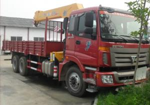 China FOTON AUMAN 6*4 10 ton truck mounted crane (CLW5250JSQB3), FOTON AUMAN truck with 10tons XCMG telescopic boom for sale on sale