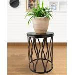 Living Room Furniture Metal Round Coffee Table Side Table   Round Metal End Table