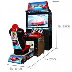 42 Inch  Car Driving Arcade Machine Coin Operated Outrun Driving Game Machine