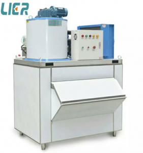 China Commercial Ice Making Equipment , 500kg/Day Flake Ice Plant For Hotel on sale