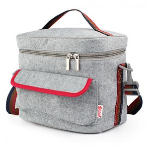 China Felt Aluminum Cooler Bag Insulated Camping 105cm Length Shoulder Strap on sale