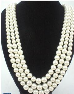 China Silver Color Jewelry Beaded Pearl Necklaces with Claw Chain for Anniversary  on sale