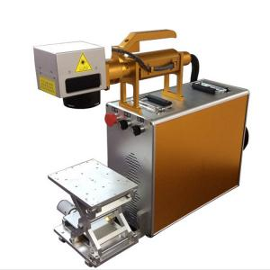 China 100X100MM Portable Laser Engraving Machine For Stainless Steel , Laser Marking Device on sale