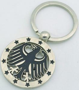 China custom metal eagle keychains on sale