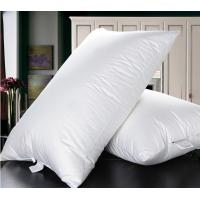 Cheaper duck down feather  natual good filling white pillow insert with piping