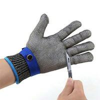 Working Safety Hand Protection Gloves Stainless Steel Wire Mesh 120 Gram
