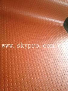China Durable non-slip rubber sheet & mat,coin texture on top on sale