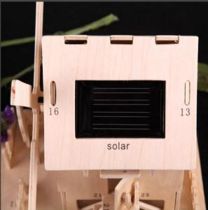 China Solar Powered Gadgets DIY Solar Toys Solar Beech Wooden House on sale