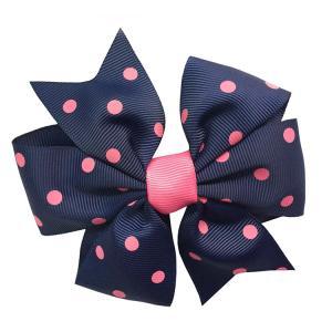 China Soft Feeling Kids Hair Ribbons , Various Color Custom Made Hair Bows on sale