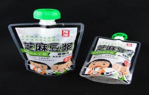 China Plastic Custom Printed Stand up Spout Pouches for Packing Jam / Sauce on sale