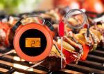 Clock Shape Orange Bluetooth Meat Thermometer With Two Probes High Accuracy