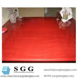China Excellence quality Red Painted Glass Bar top on sale