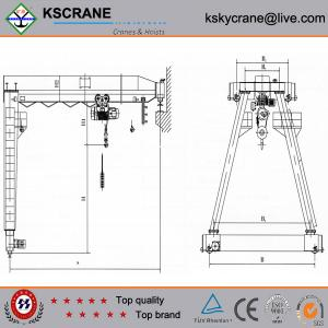China Single Girder Crane,Single Beam Gantry Crane,Mobile Gantry Crane on sale