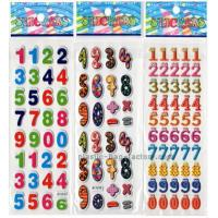 Preschool Education Puffy Letter Stickers , Arabic Numerals DIY Puffy Stickers For Kids