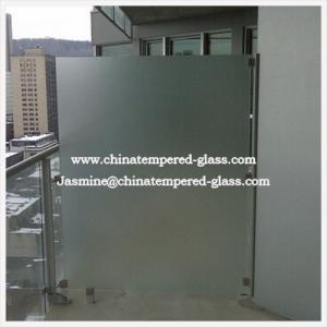 China 4mm-19mm Tempered Frosted Glass for Bathroom Door on sale