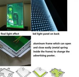 China 15mm single black aluminum led animated light boxes for advertising on sale