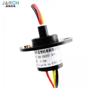 China 12.4mm Miniature 6 Wires Capsule Slip Ring Definition for Electrical Test Equipment on sale