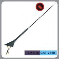 Auto Car Roof Antenna , Car Electric Aerial Led Light 41cm Mast Length