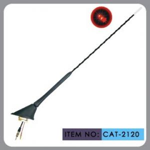 China Auto Car Roof Antenna , Car Electric Aerial Led Light 41cm Mast Length on sale