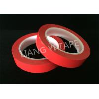 Heat Resistance Red Polyester Mylar Tape For Wrapping Coils / Capacitors / Wire Harnesses