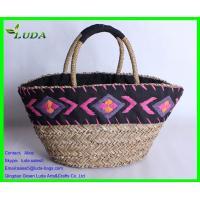 China Embroidery handmade extra-large sea grass beach bag on sale
