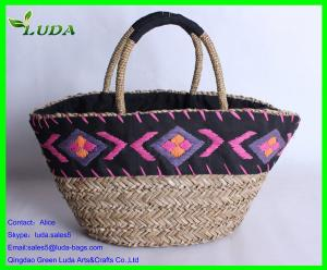 China Embroidery handmade extra-large sea grass beach bag on sale