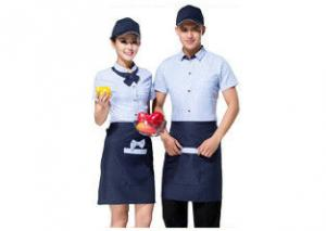 China Professional Restaurant Staff Uniform , Short Sleeve Stylish Restaurant Uniforms on sale