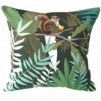 latest design Wholesale Tropical Velvet and plants Digital printing decorative cushion cover,Custom digital print blank
