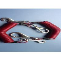 2.5 mm Fishing /  Diving  Coiled Cable Safety Tool Lanyards With Double Hooks