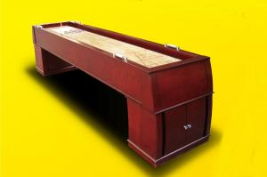 China Luxury 10 FT Shuffleboard Game Table Furniture Style With Wood Veneer Poly Coating on sale