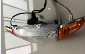 China Groupware Motorcycle driving Head lights 12v for Brazil's second-generation Honda on sale