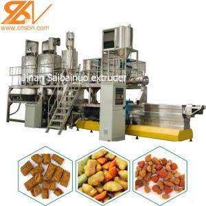 China Dry Wet Type Dog Food Processing Equipment Extruder Production Line on sale