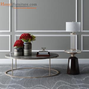 China Flash Furniture Henar Collection Marble Coffee Table with Matte Gold Frame on sale