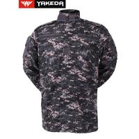 Anti UV Army Camouflage Clothes With Zigzag Stitched Mandarin Collar