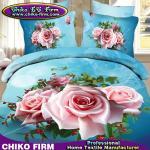 La literie de haute qualité de l'impression 3D de Rose de polyester du fournisseur 100% de la Chine place