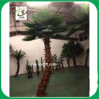 UVG PTR034 indoor airport decoration curved trunk artificial coconut trees palm tree price