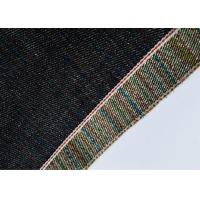 Deep Blue 16 Oz Denim Fabric, Natural Rainbow Design Soft Denim Fabric
