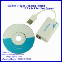 100Mbps Single Port Fiber Optic Network Adapter, USB2.0 Bus Type LC Fiber, 20km Distance, 1310NM Wavelength