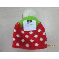 Grils and ladies Knitted hat with half face fabric materials jacquerd technology