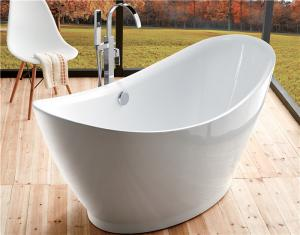 Contempoary Simple Small Freestanding Soaking Tub Oval Garden Tub
