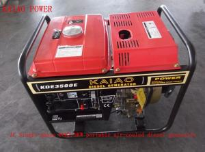 China 220V 230V 3000W Small Welder Generator Diesel With Ordinary Panel Board on sale
