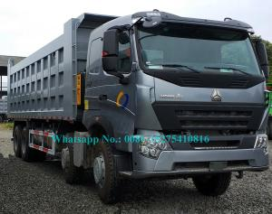 China SINOTRUCK HOWO A7 371hp 8x4 12 wheeler Heavy Duty Mining Dump/ Dumper Truck For Transporting sand stone mines on sale