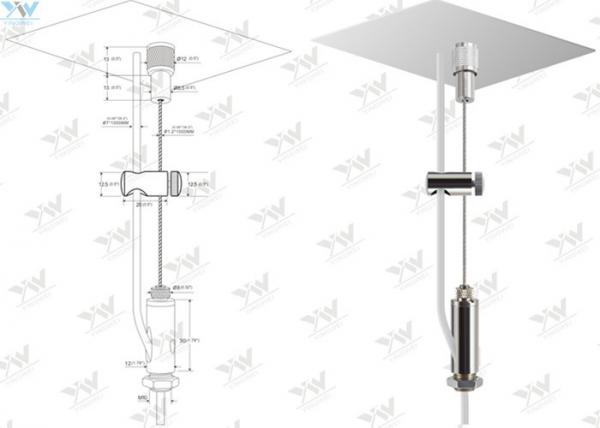 Feed Steel Cable Suspended Wire Lighting Kit For