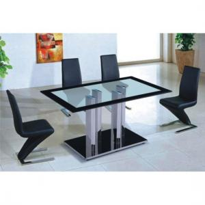 China Excellence quality Glass top dining table glass on sale
