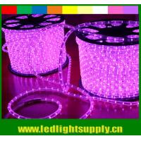China ultra thin 10mm 2 wire pink led outdoor christmas rope lights on sale