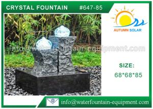 China Carved Granite backyard Water Fountains Glass Crystal Balls For Decoration on sale