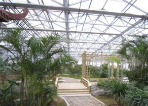 China Easy Installation Garden Greenhouse , Polycarbonate Sheets Greenhouse Custom Span Width on sale
