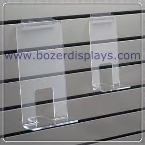 China Clear Acrylic Face Out Book Shelf for Slatwall on sale